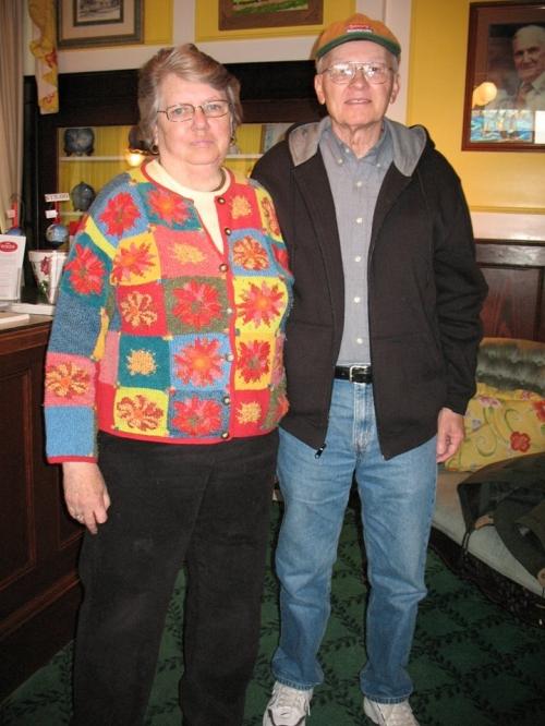Mayor Margaret Doud and Lowell.