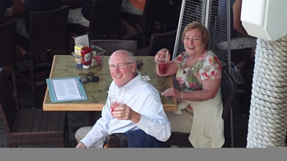 Blog readers Paul and Elaine Williams, enjoying some cool refreshments at the Pink Pony!