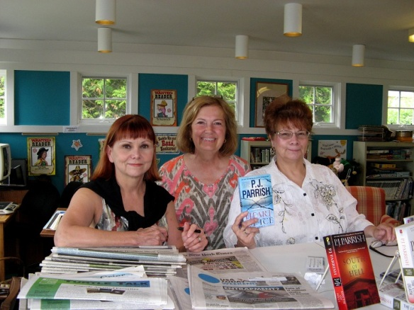 You'll remember that P.J. Parrish is actually two sisters, Kelly Nichols and Kristy Montee, and their latest book is Heart of Ice, set on Mackinac Island.