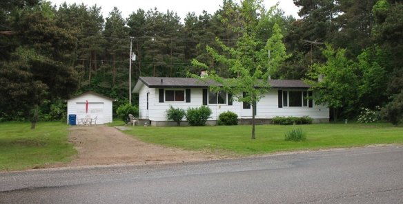 Preacher's house at Houghton Lake, where we lived from 1979-1990,