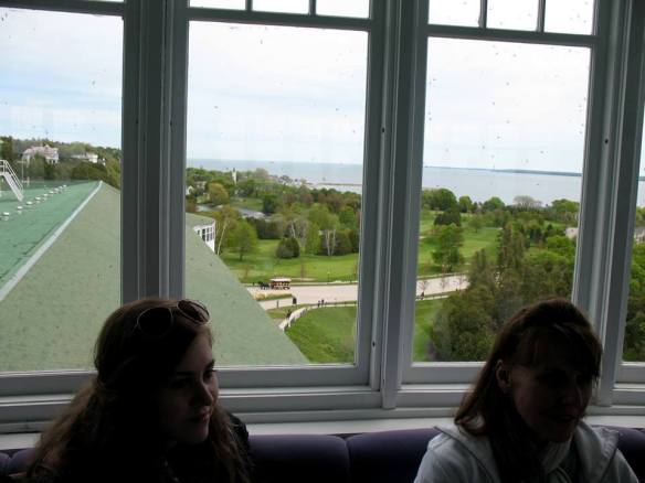Sarah Elizabeth and Lora in the Grand Hotel Cupola.