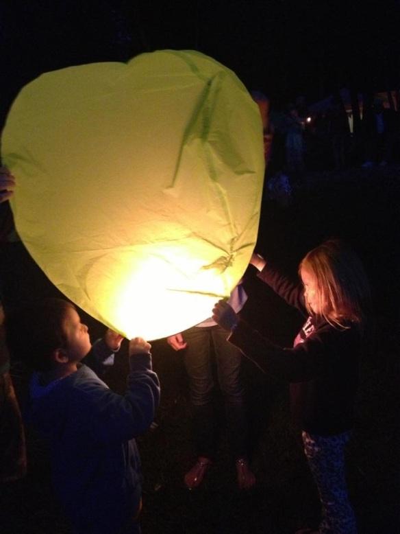 As each lantern was released . . .