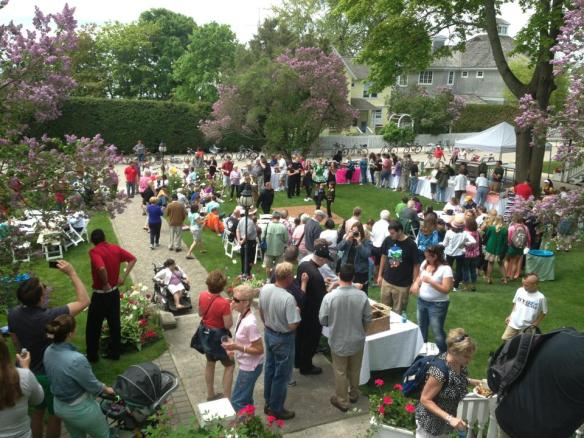 "A huge crowd turned out today for the annual Lilac Festival ""A Taste of Mackinac"".  Restaurants served up their best fare for those lucky enough to have one of the limited number of tickets for the event."