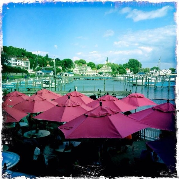 Abby Holstrom got this great shot of the new PINK umbrellas on the outside patio at the Pony.  Very appropriate!