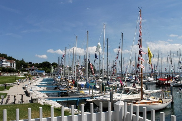 The Bayview Yacht Club Port Huron to Mackinac Island Race is over for one more year.  This was the scene Tuesday morning in the marina.