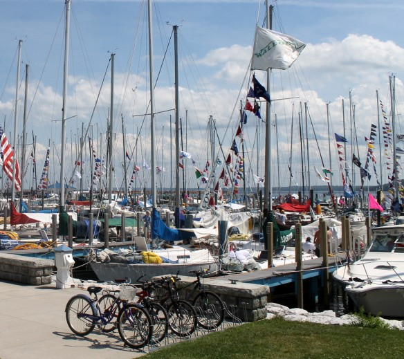 Boats and bikes just go together on Mackinac!
