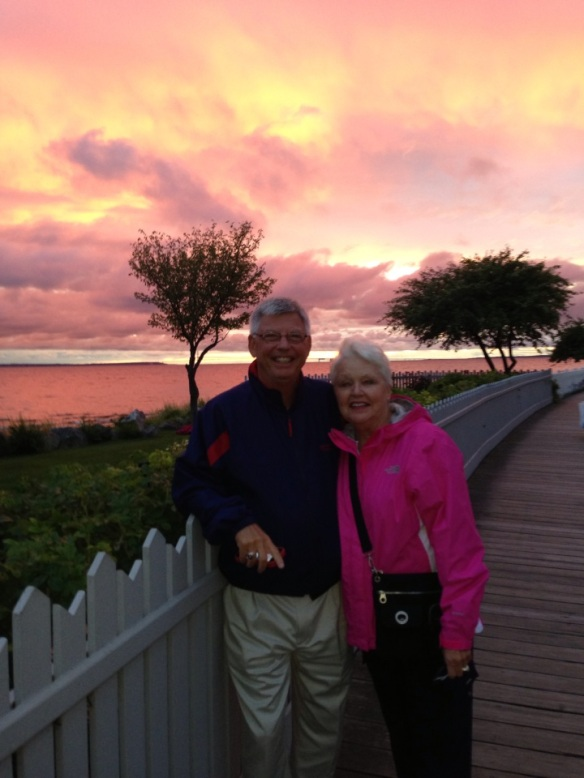 What could be more special on their last night than a walk down the boardwalk and a Mackinac sunset that painted the sky in colors so glorious you knew the Master Artist was at work.