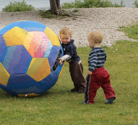 "Children are so much fun to watch, aren't they!?  These two little boys were having a ""ball""!"