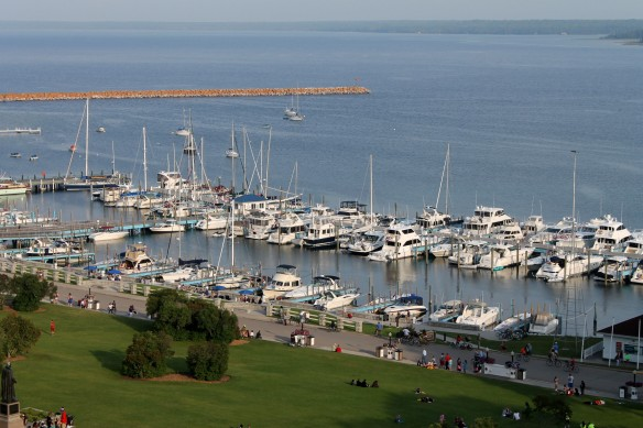 In a few days, the Mackinac Island Marina will be alive with sails in rainbow colors.  The