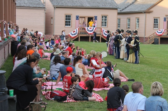 . . . and walked back through the parade grounds just as the fort interpreters were entertaining.