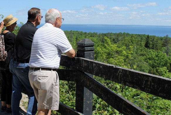"""As with almost everyone who visits for the first time, they couldn't get over the blueness and clarity of the Lake Huron water.  """"It looks like the Caribbean,"""" they said several times."""