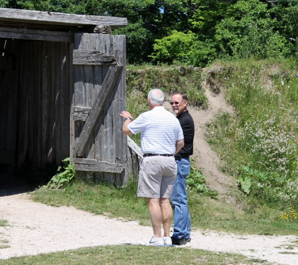 . . . brought us to Fort Holmes, and Ted got to talk all about the history of what happened there.