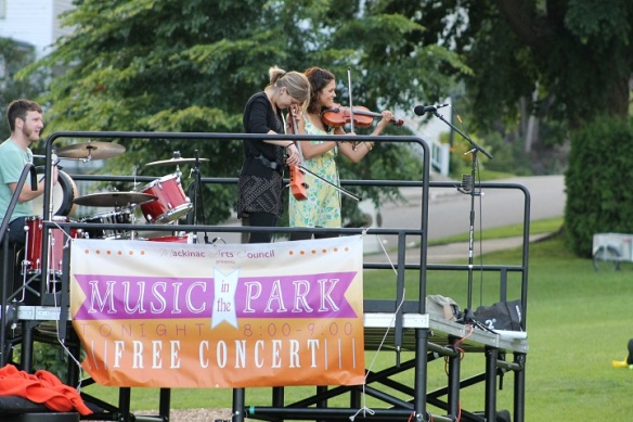 We all attended the concert by The Moxie Strings on Thursday evening - part of the Music in the Park series.