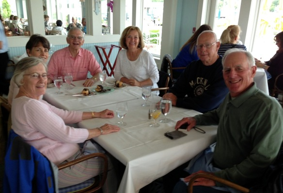 We had a wonderful lunch at the Carriage House in the Iroquois Hotel, and Ann, Chip and I shared their decadent Triple