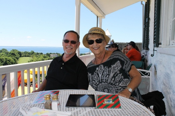 . . . then had lunch at Fort Mackinac's Tea Room.