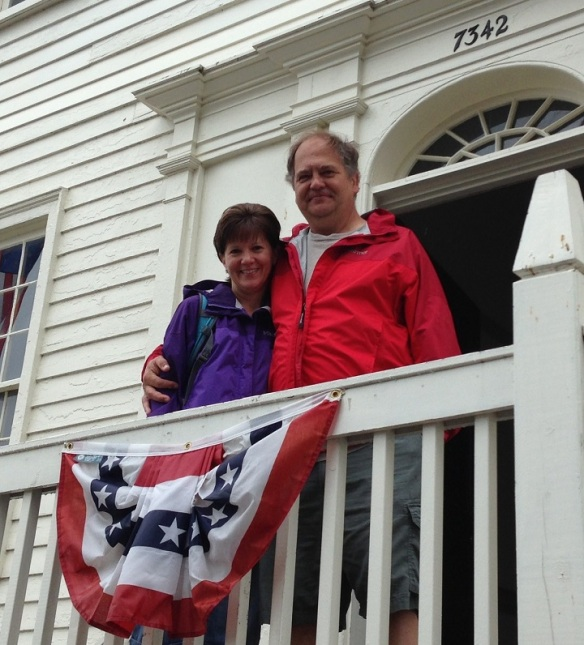 Loved seeing blog reader Joyce and her husband Al on Monday.  They stopped by the Stuart House to say hello!