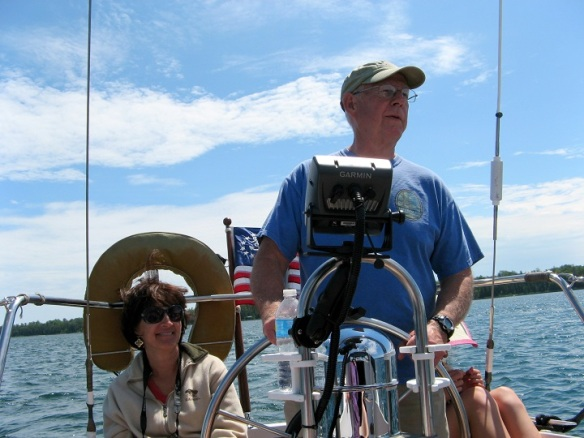 Ted took the helm while Steve and Max secured everything as we approached Cedarville.