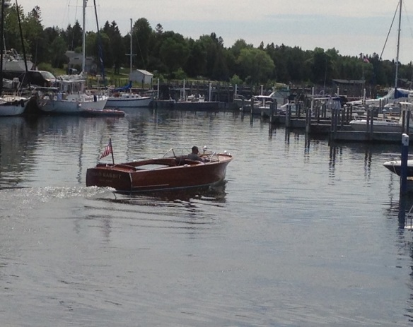 I don't know what it is about Michigan and wooden boats, but they are everywhere on the water up here.  So beautiful.