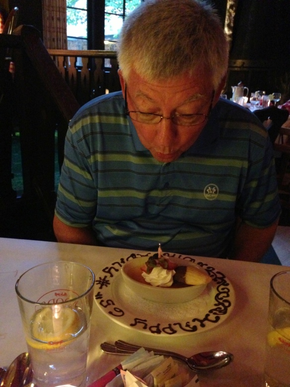 . . . where we celebrated Ronnie's 65th birthday!