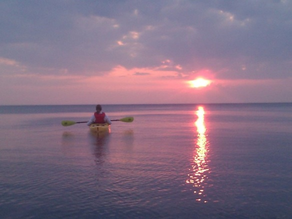 A beautiful and serene photograph taken as the sun rose this morning. (Photo credit: Great Turtle Kayak Tours).