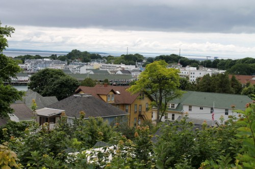 Looking over the rooftops from the East Bluff.