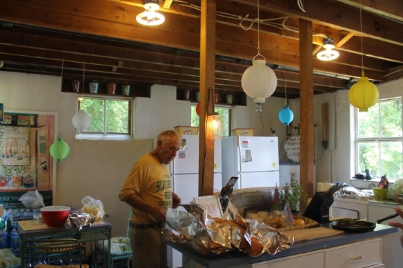 The kitchen was added on at some point in the lodge's history, and has been used all summer to feed family and workers.