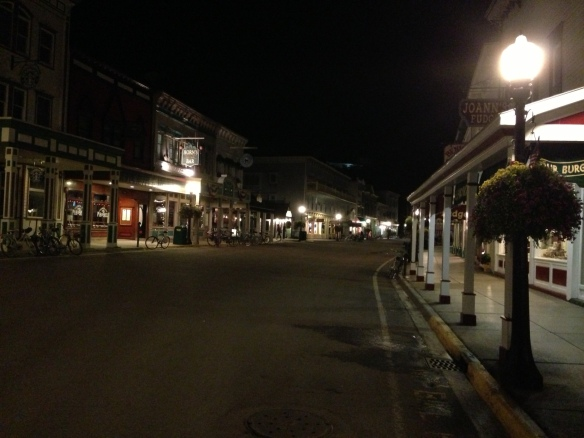 Downtown Mackinac Island on a quiet post-Labor Day evening.