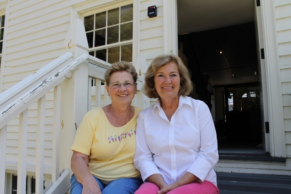 Another blog reader, Joan from Shelby Township, MI, visited the Stuart House last week.  We changed location and sat on the BACK steps!