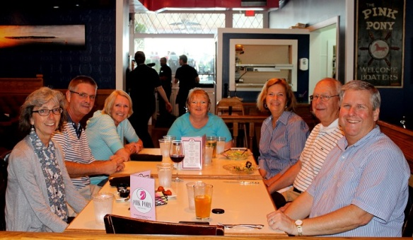 A fun dinner with Jill, Bud & Hilde DaVanon, Frankie Thill and Mike Forrester.