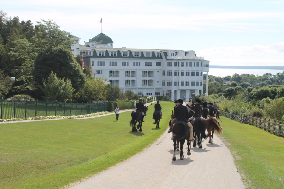 . . . ride in front of the Grand Hotel and then return to the East Bluff where they meet for breakfast at one of the East Bluff cottages.  What a great Mackinac Island tradition!