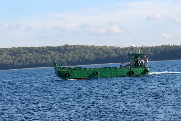 . . . the Mackinac Island Historic State Parks landing craft . . .