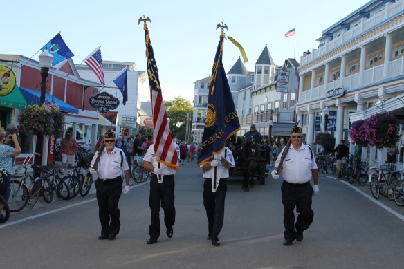 . . . and began her trip through the streets of Mackinac to the Stuart House Museum.