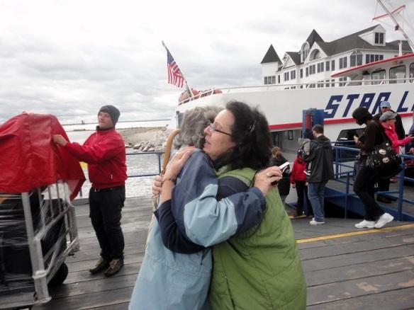 . . . hugged us all goodbye . . .