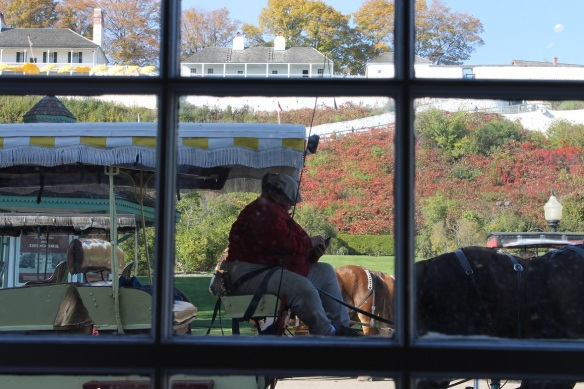 Anna - waiting for a fare on her taxi outside the Visitors Center, which closes Sunday.
