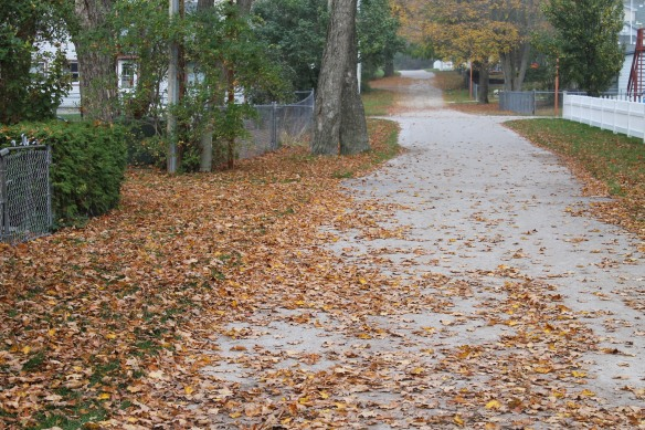. . . and streets are covered in crunchy leaves.