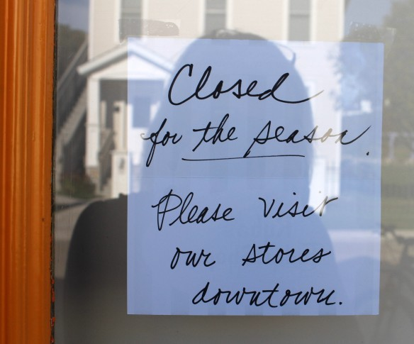 . . . and this sign on the Ryba's shop on Cadotte.