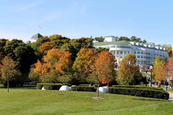The Grand Hotel is always beautiful, but surrounded by the colors of Fall, she is at her peak
