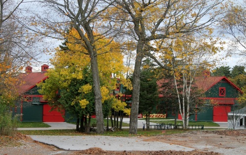 We came back home by way of the Carriage Museum and a took one more photo of the Grant stable - so beautiful surrounded by fall colors.