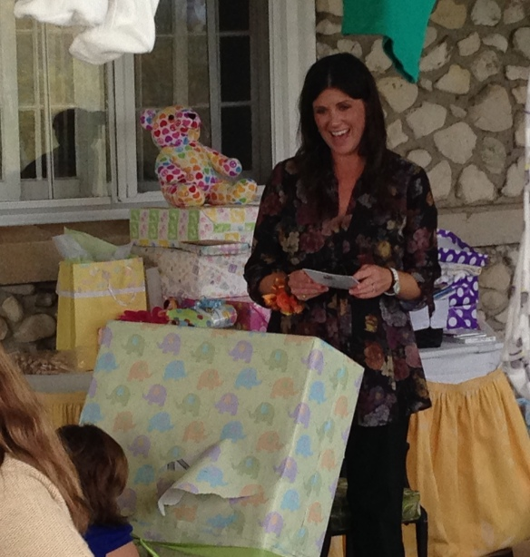 Went to Nicole Doud's baby shower this afternoon at the Jockey Club. Nicole is one of the sweetest people I know, and Baby Doud is expected in December. We are all going to be fighting next summer to babysit!
