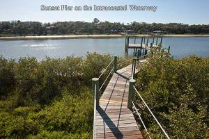 . . . to the fishing pier on the Intracoastal Waterway.