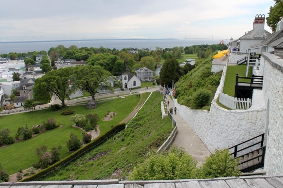 One view from the ramparts of Fort Mackinac,