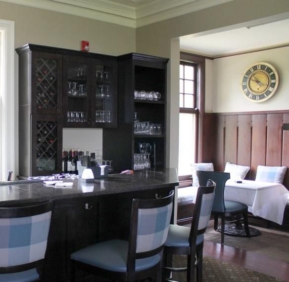 The mansion's bar was recently renovated, creating an intimate setting (complete with roaring fire in cooler weather) with little nooks and crannies that just beg you to settle in with good friends and enjoy a delicious libation.