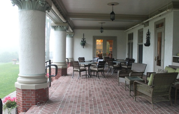 Looking across the Lakeview Portico into The Cudahy Chophouse.