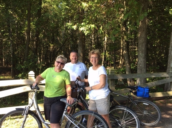 """So good to run into Pam and Mike Day (from Ohio) while out biking the other day. These two might love Mackinac as much as I do . . . notice I said """"might"""" . . . it's pretty close though. They're on the island around this time every year and are two of the sweetest folks I've ever met!"""
