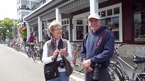 As you may or may not be aware, last weekend the island was host to the Republican Leadership Conference, and five or six of the candidates in the running for the Republican Presidential nomination were here to speak. While waiting for Carly Fiorina to arrive, I ran into one of my favorite Mackinac Island photographers, Steven Blair. Steven owns Artistic Mackinac Gallery & Studio on Astor Street.