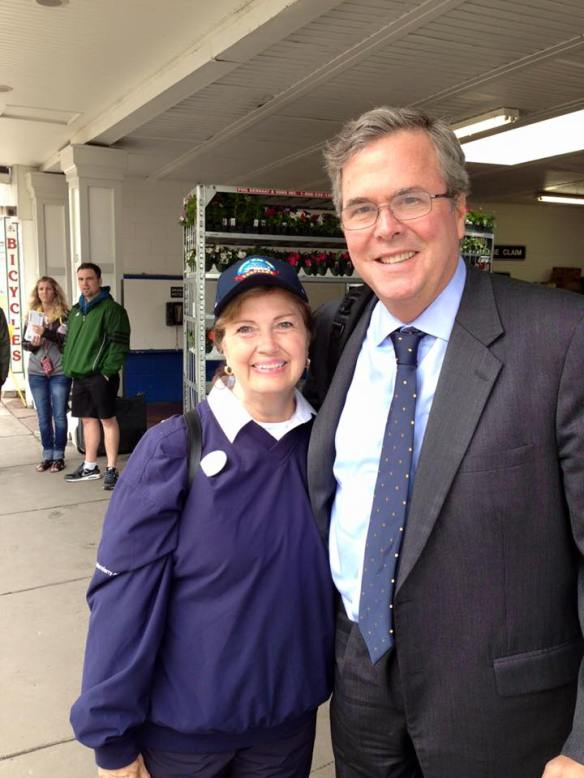 This photo of me with Jeb Bush is from two years ago. He was on the island to speak at the Detroit Chamber of Commerce conference and was leaving just as I arrived from volunteering with Shepler's that day on the mainland. There were maybe three people standing around, and I don't think any of them realized who he was.
