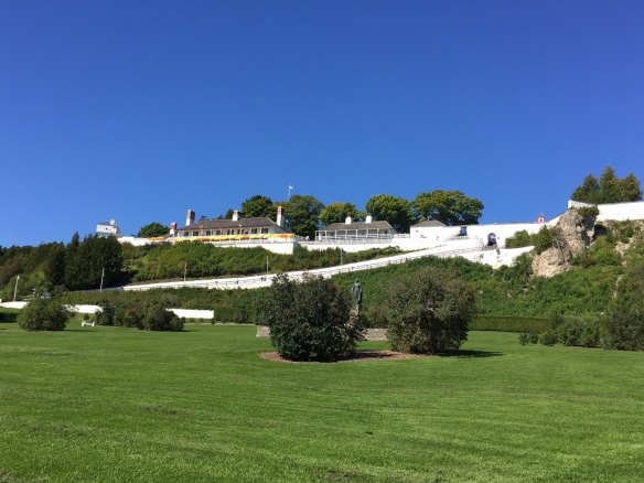 . . . . and Fort Mackinac, framed by newly mown grass and that incredible Michigan-blue sky.