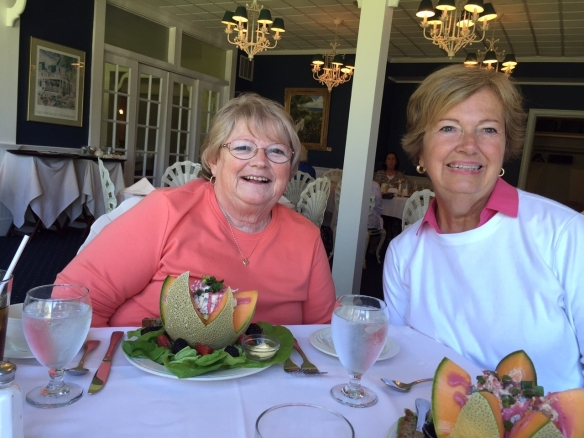 So excited to see good friend Frankie when we met a few days ago in Mackinaw City. We rode over to Petoskey and had lunch at Stafford's Bay View Inn. What a charming place and what yummy food!