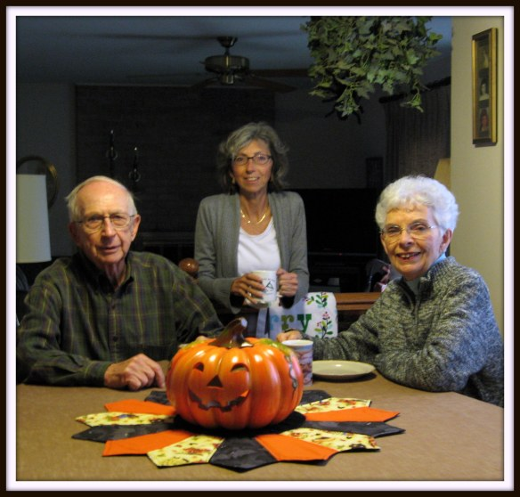 Jill and her parents in October of 2012.
