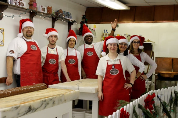 This talented group of fudge-makers will be cooking and shipping fudge through December 17 for your Christmas orders!